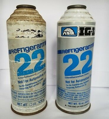 2 15 oz. cans R-22 Refrigerant New Old Stock