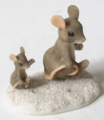 Charming Tails Fitz & Floyd FOLLOW IN MY FOOTSTEPS Mouse Figurine
