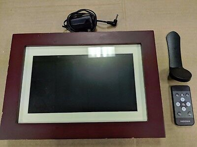 "USED Insignia NS-DPF10WW-17 10""LCD Digital Photo Espresso Wood Finish"