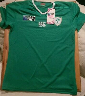 IRELAND RUGBY WORLD CUP 2015 Jersey. BNWT. Rare Official IRFU Canterbury.