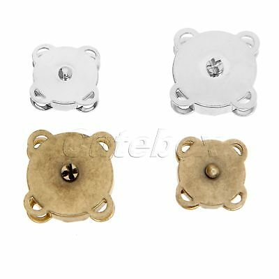 10Set 14/18mm Metal Magnetic Buckle DIY Handmade Clothes Bag Purse Sewing Button