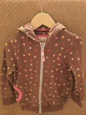 girls joules spotty hoodie age 3