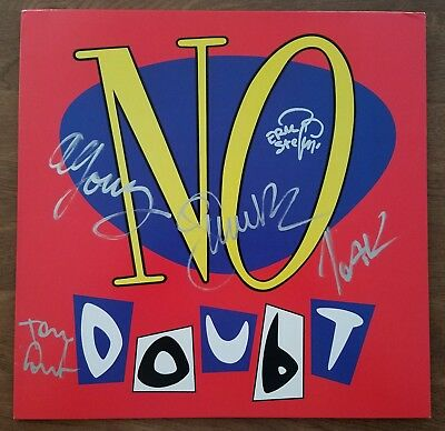 No Doubt Signed Self Titled Debut Vinyl Record Blue Marbled All Members  RARE