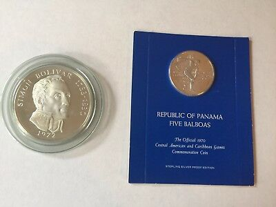 20 And 5 Balboas 2 Coin Proof Silver Lot