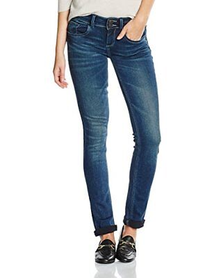 TOM TAILOR Carrie, Jeans Donna, Blu (Dark Stone Wash Denim), W27/L32 (Taglia Pro