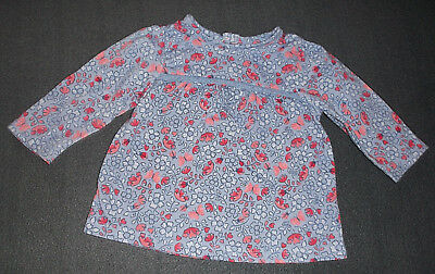 süße UK-Mode * Shirt Longsleeve * 56 62 * George * Blumen * Tunika / Kled *