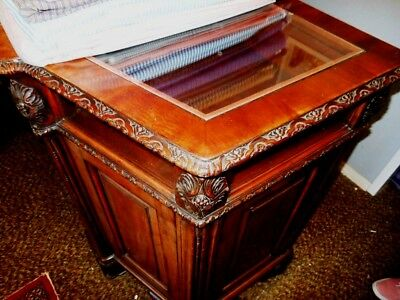 Store Showcases Carved Philippine Mahogany A One Of A Kind Pair High End