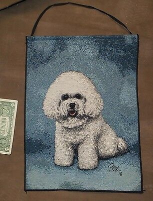 Bichon Dog Tapestry Bannerette by Linda Pickens