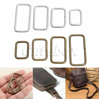 2 Colour 4 Size Metal Square Ring Buckles Strapping Belt DIY Needlework 20pcs