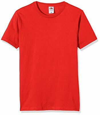 Fruit of the Loom SS041M, T-Shirt Uomo, Rot-Rot, M