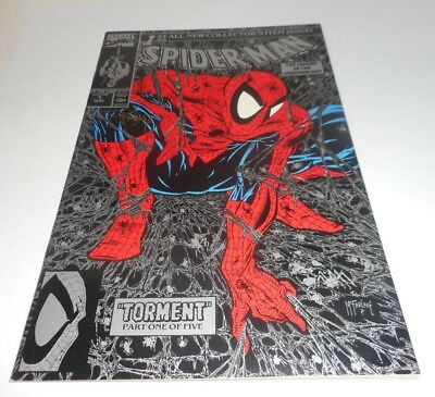 Spider-Man #1  SIGNED BY  Todd McFarlane!!!  SILVER VARIANT COVER  HIGH  GRADE