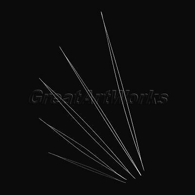 5Pcs Beading Needles 5.8-12.8cm Threading String/Cord Pin Sewing Embroidery Tool