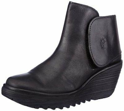 Fly LondonYogi Mousse Leather - Stivali donna, nero (Black), 37 EU