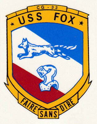 USS FOX CG 33 DLG 33 Decal U S NAVY USN Military S01