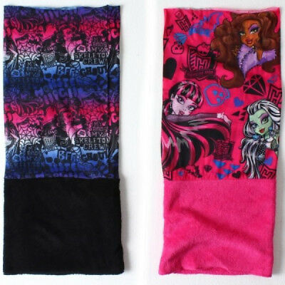 Monster High Kids Neck Warmer Girls Fleece Lined Snood