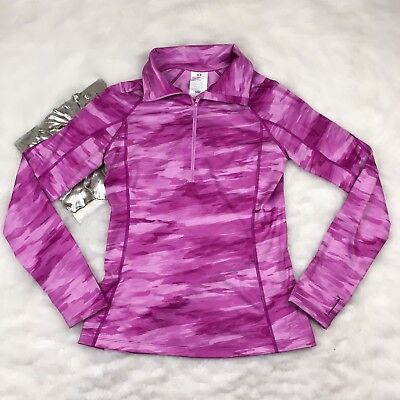 Womens Under Armour Cold Gear Cozy Printed 1/2 Zip Pullover Jacket Size M NWOT