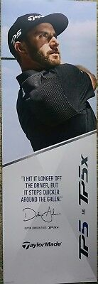 Man cave sign; Taylormade golf with pro golfer Dustin Johnson; used.