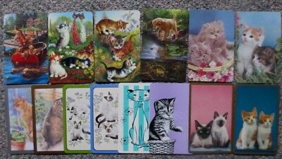 13 Assorted Swap/Playing Cards - ALL CATS