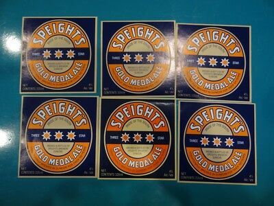 6 x 335ml SPEIGHTS GOLD MEDAL ALE  NEW ZEALAND BEER LABELS - CR11