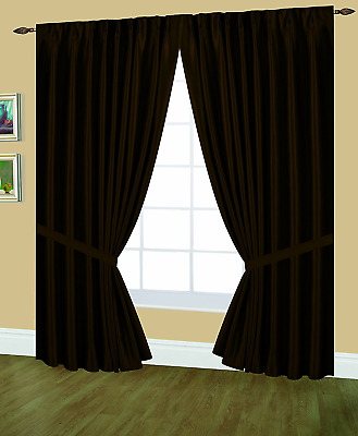 Editex Home Textiles Elaine Lined Pinch Pleated Window Curtain, 96 by 63 inches