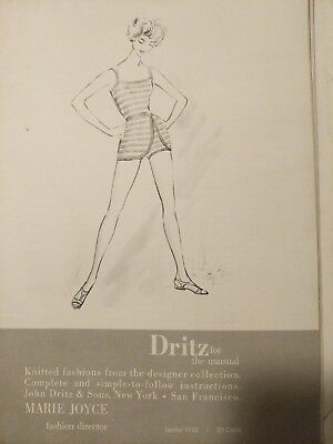 1959 Dritz Knitted Fashions Binder with letter Sewing