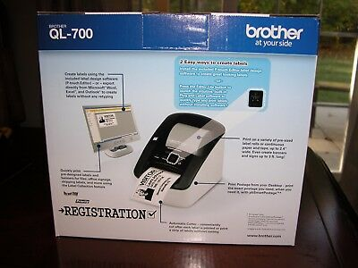 ***BRAND NEW BROTHER QL-700 PROFESSIONALl STAMP and LABEL PRINTER***