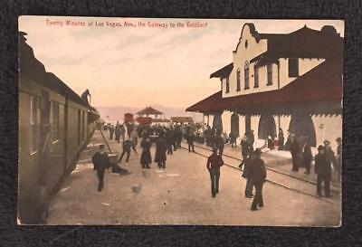"ca 1920's Postcard ""Twenty minutes at Las Vegas, NV the gateway to the Goldfield"