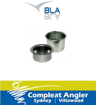BLA Drink Holder Recessed Stainless Steel 110m 194107 BRAND NEW At Compleat Angl
