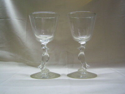 Vintage Pair of Libbey Glassware Old Crow Whiskey Glasses 1960's