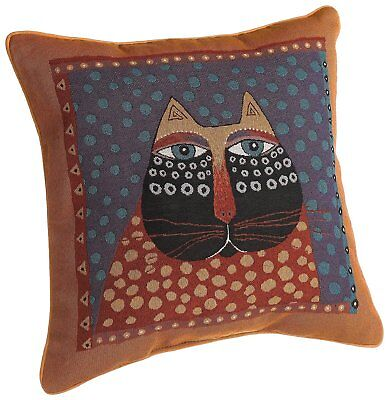 Laurel Burch 18-inch Dotted Cat Square Pillow