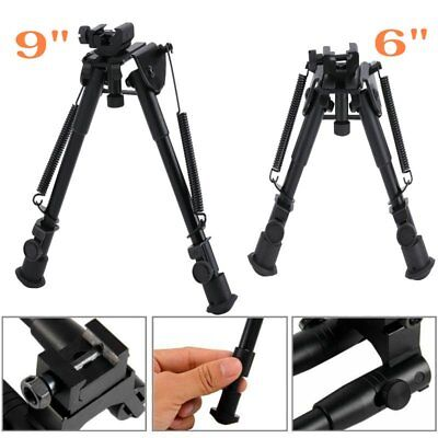 "LOT 6"" 9""Tactical Rifle Gun AR Bipod OP SWAT Adjustable Stand Dual Height Rail F"