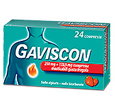 Gaviscon 250 Mg + 133,5 Mg Compressa Masticabile Gusto Fragola 24 Compresse In B