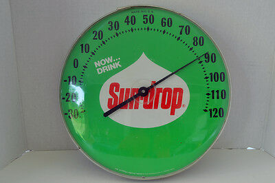 """12"""" Round """"Now Drink"""" Sundrop Thermometer - Free Shipping!!!"""