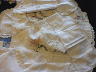 Vintage doilies and serviettes  Bulk buy = 32