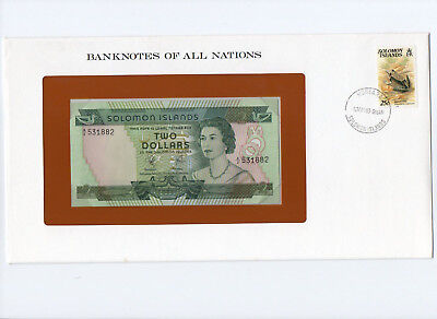 1977 Solomon Islands $2 Qeii Pick 5 Banknotes Of All Nations