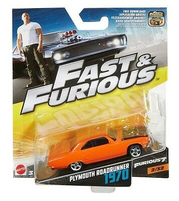 Fast & Furious 1:55 Scale: plymouth Road Runner 1970 - 2/32