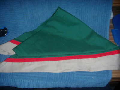New   Vintage Boy Scout Lg Kerchief Green /red/tan