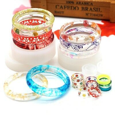 Crystal Jewelry Bracelet Ring Mold Silicone Ornament Resin Craft Making Tool DIY