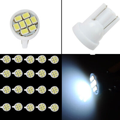 20pcs Car White T10 LED 8smd Side Wedge Light Bulb W5W 194 168 2825 501 192 158