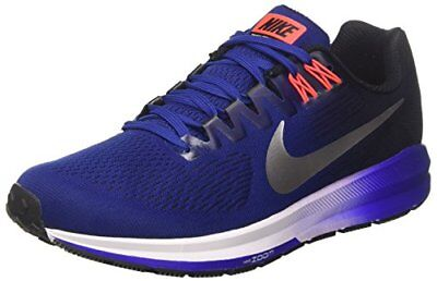 Nike Air Zoom Structure 21, Chaussures de Running Homme, Multicolore (Deep Royal