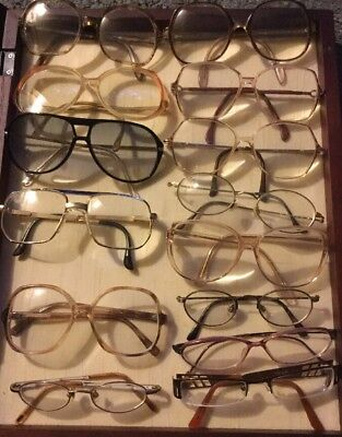 Vintage Wire Rim Bifocal Eyeglasses Lot  All Different Styles And Shapes 14 Pair