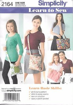 0d8dbbdcbe3 Simplicity 2164 Misses Bags Totes Purses sewing pattern uncut FF Learn to  Sew