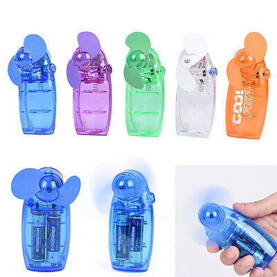 Mini Portable Pocket Fan Cool Air Hand Held Battery Button Type Blower Cooler ~!