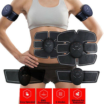 AUMuscle Stimulator Training Gear ABS Trainer Fit Body Home Workout Exercise Hot