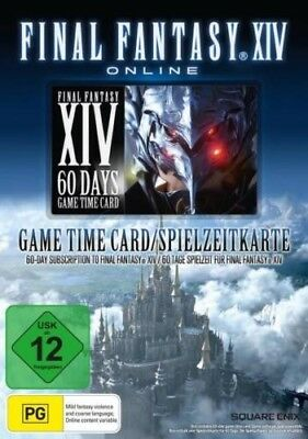 Final Fantasy XIV A Realm Reborn 60 Tage Game Time Card Key Code Spiezeit