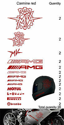 MV Agusta F4 set stickers for helmet for tank decal motorcycle arai bell shoei