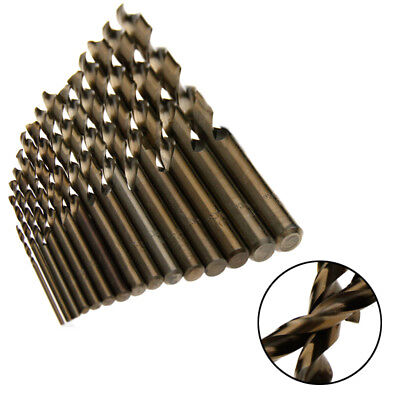 15x 1.5-10mm Multi-Bit HSS-Co Metal Drills Kits for High Tensile Stainless Steel