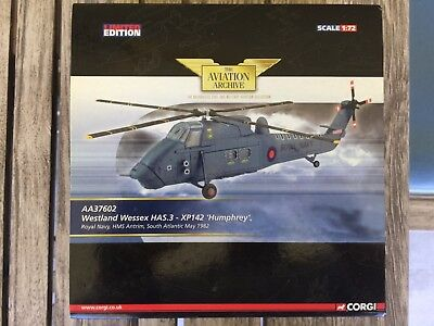 Limited Edition Corgi AA37602 Westland Wessex HAS.3-XP142 'Humphrey' Helicopter