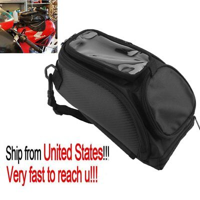 Universal Magnetic Motorcycle Motorbike Oil Fuel Tank Bag Travel Black US Stock~