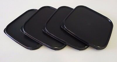TUPPERWARE Modular Mates Square Seal Lid Cover (Black / Red) + Free Shipping